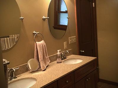 Aquamarine Bathroom Remodel - Jackson Plumbing